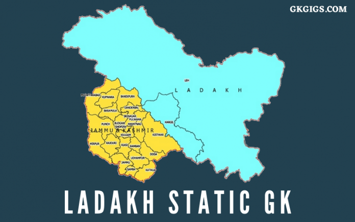 Ladakh Static GK Questions And Answers After Union Territory