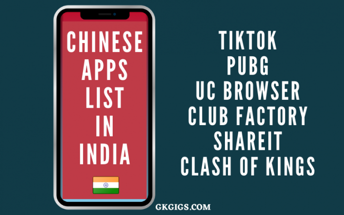 List of Chinese Apps In India-100+ List