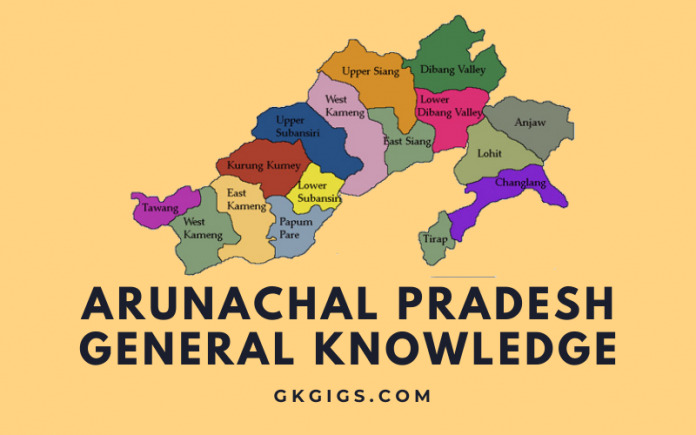 GK Questions And Answers On Arunachal Pradesh