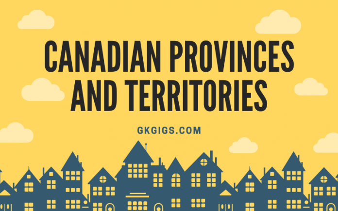 List Of Canadian Provinces And Territories