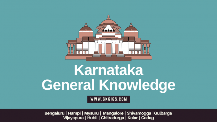 Karnataka General knowledge Questions and Answers