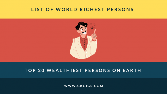 List Of Richest Person In The World